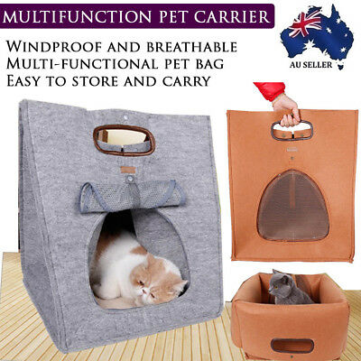 NEW Portable Pet House Crate Bed Kennel Carry Tote Bag Travel Indoor Puppy Cat