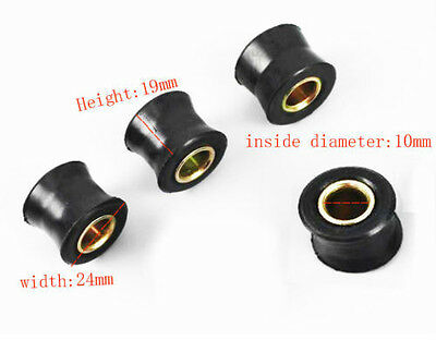 4PC 10mm Motorcycle Rear Shock Absorber Rubber Bush  Bullet  Enfiled Spare Part