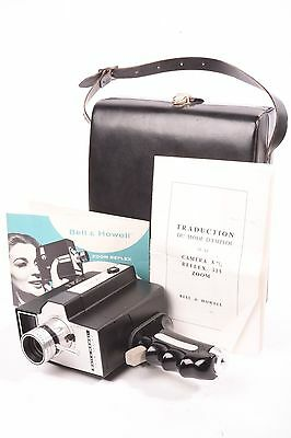 Bell & Howell Zoom Reflex with Zoom lens f/1.8, case and instruction. Super 8.