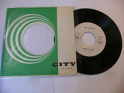 "THE JUNIORS""SHANG A LANG-disco 45 giri CITY It 1967"" BEAT It-RARISSIMO"
