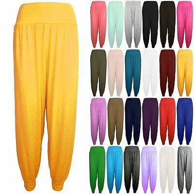 Kids Girls Harem Baggy Full Length Ladies Plain Ali Baba Leggings Trousers Pants