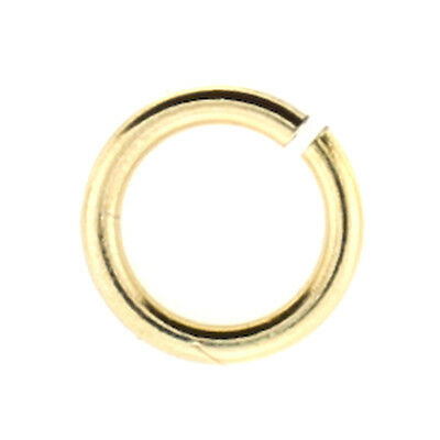 100pc, 6mm 18gauge, Gold Filled Open Jump Ring, Thick 14kt GF Ring,Made in USA,