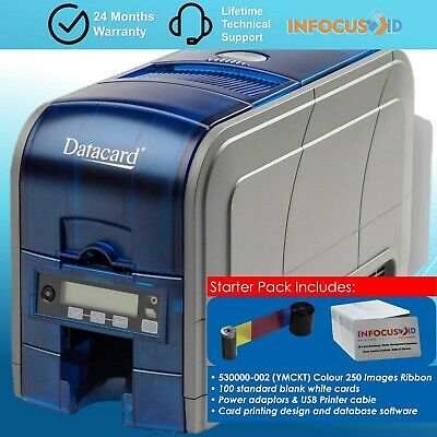 New Datacard SD160 Single Sided DTC ID Printer With Rewrite And Starter Pack