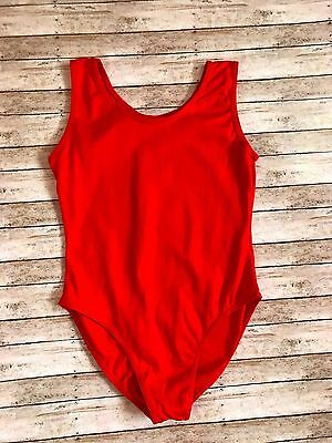 Women's Red Leotard Gymnastics Dance Adult Medium
