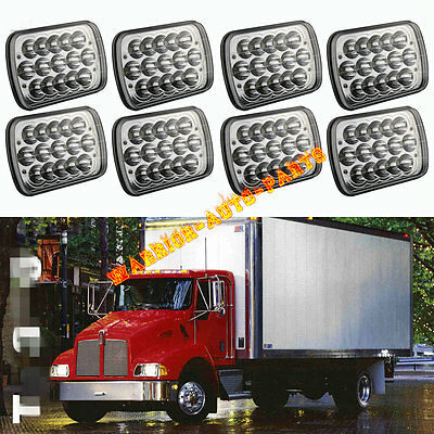 For Kenworth T300 LED Headlight Headlamp High/Low Beam Bulb Kit 1997-2010 4Pairs