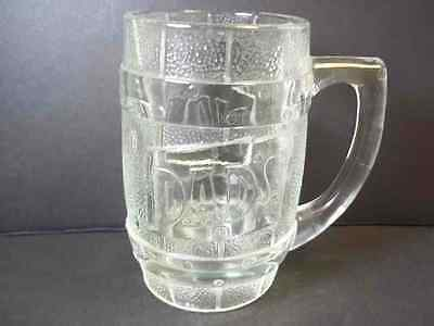 Barrel heavy embossed glass beer mug DAD'S Root Beer 10 oz