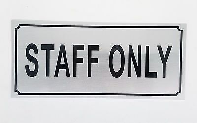 STAFF ONLY DOOR STICKER - STAFF DOOR / WINDOW STICKER SAFETY SIGN by GN Enterpri