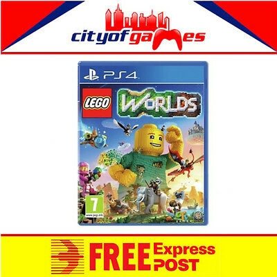 Lego Worlds PS4 Game New & Sealed Free Express Post In Stock Now