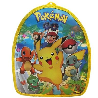 "New 11"" Pokemon Go Pikachu Anime School Bag Backpack Rucksack Travel Bag scbag94"