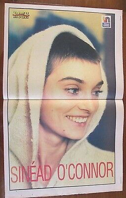 Sinead O`connor Musicians Celebrity Poster 1995 From A Magazine In Spanish