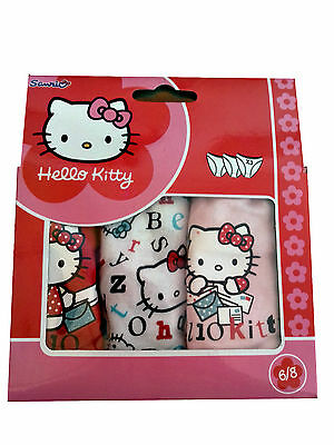 Idea regalo bambina Cofanetto 3 slip Hello Kitty  cotone mutande