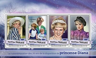 Z08 IMPERFORATED TG17122a TOGO 2017 Princess Diana MNH ** Postfrisch