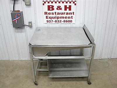 "23"" Stainless / Aluminum Donut Icing Bakery Glazing Table w/ Hand Glazer"