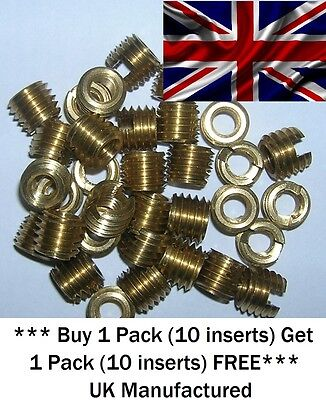 M5x 10.00mm Long Threaded Slot Screw Inserts for Wood (Hard & soft) and Plastics