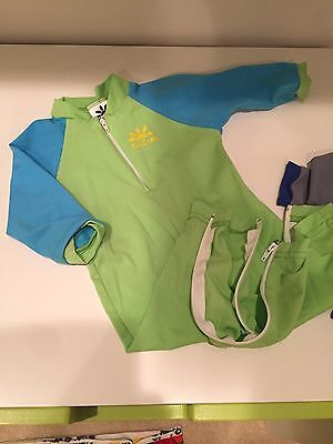 Fiji Sun Protective Baby Swimsuit by Nozone - Size 6-12 months - Lime/Aqua