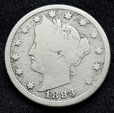 1883 V Nickel W/Cents