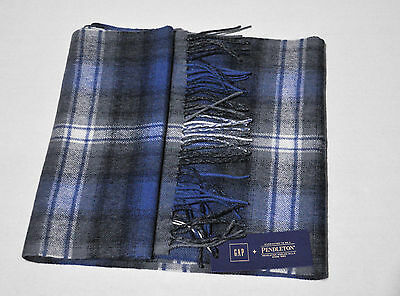 Nwt Gap Pendleton Brushed Wool Men Scarf River Teal One Size 73""