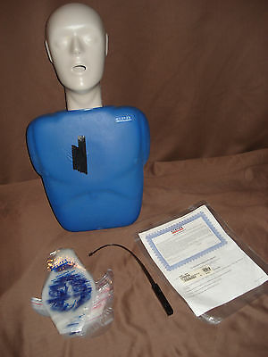 cpr prompt adult/child manikin with face shield lung bag + insertion tool