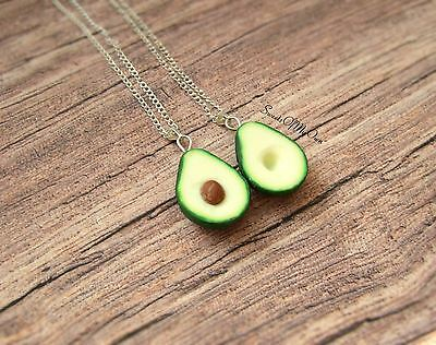 Avocado Necklaces - Best Friend Necklaces - BFF Necklaces - Food Jewellery - Han