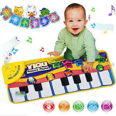 New Musical Music Kid Piano Play Baby Mat Animal Educational Soft Kick Toy