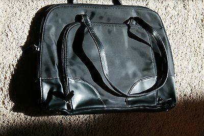 Merona Black briefcase, laptop carrying case, shoulder bag, preowned