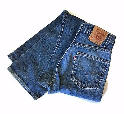Vtg Levis 517 Boot Cut Jeans Made in USA Sz W31 L34 Dark Blue 80s High Waisted