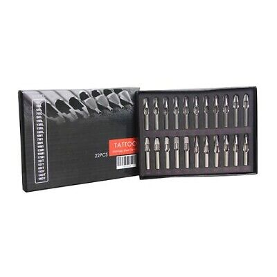 Set 22 Puntas Acero Inoxidable 316L - Tips Tatuaje Tattoo Tatuar Profesional