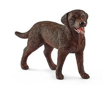 Schleich 13834 Chocolate Labrador Retriever Female Dog Lab Toy Model 2017 - NIP