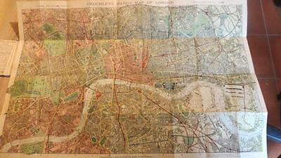 "c1900 ""HANDY MAP & GUIDE TO LONDON- GALL & INGLIS/CRUCHLEY'S"" 3.5 INCH TO 1 MILE"