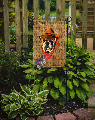 Bulldog English Dog Country Lucky Horseshoe Flag Garden Size