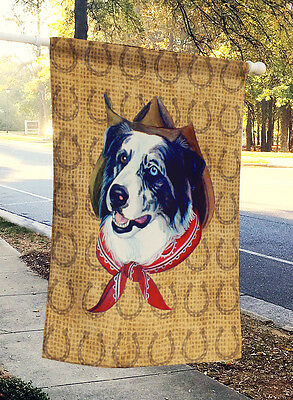 Australian Shepherd Dog Country Lucky Horseshoe Flag Canvas House Size