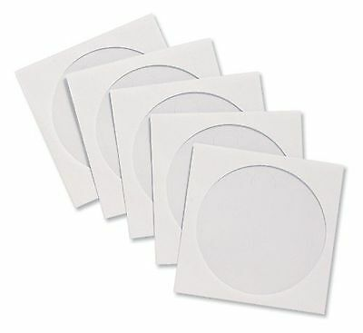 100 x CD Sleeve Envelopes Paper with Window W126xH126mm White