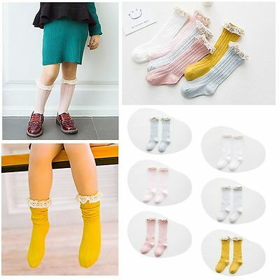 Anti-slip Summer Knee High Cotton Baby Socks Breathable for 3-5 Years