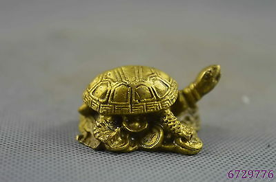 china collection handwork old copper carve vivid longevity tortoise lucky statue