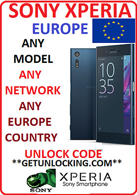 Sony Xperia * Europe * Unlock Code Any Model Any Network & Any Country Clean