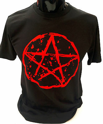 Pentagram T-Shirt SCREENPRINTED S-2XL Rock Goth Punk Metal Gothic Emo mens women