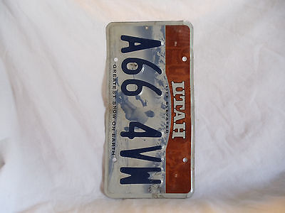 Utah GREATEST SNOW License Plate A66 4VW Man Cave Arts Crafts Decor Mancave