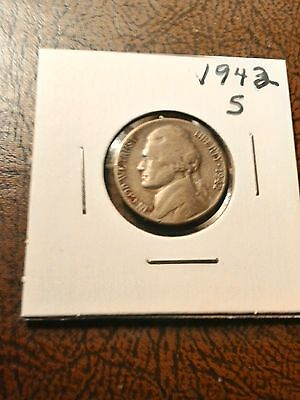1942-S Silver Jefferson War Nickel