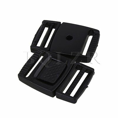 2cm Release Buckles Set of 20 Black
