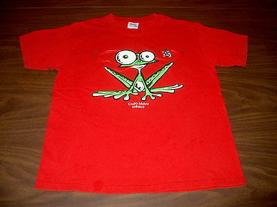 Yazbek Youth Size XL 14-16 Red Short Sleeve T-Shirt Frog & Fly Costa Maya Mexico