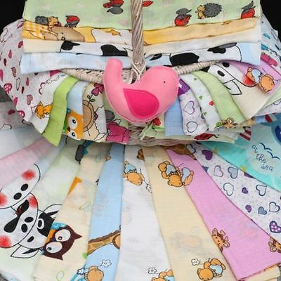 10 LARGE 70x80cm Muslin Squares 100% Cotton Cloths Baby Nappies Pieluchy Tetrowe