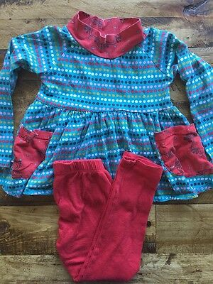 Girl's JELLY THE PUG Dress & Pant Set Size 5 Toddler K1