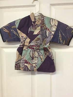 Vintage childs kimono jacket coat size Small from Japan