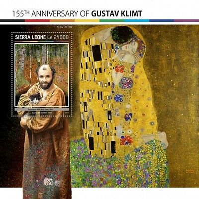 Z08 IMPERFORATED SRL17117b SIERRA LEONE 2017 Gustav Klimt MNH Mint