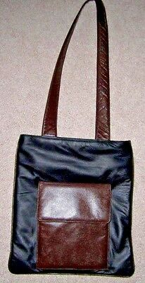 Theodora Shoulder Bag Black & Brown Leather Purse,A+ Condition.