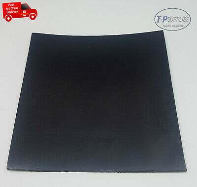 Solid Black Neoprene Rubber Sheet 1mm Thick Various Sizes