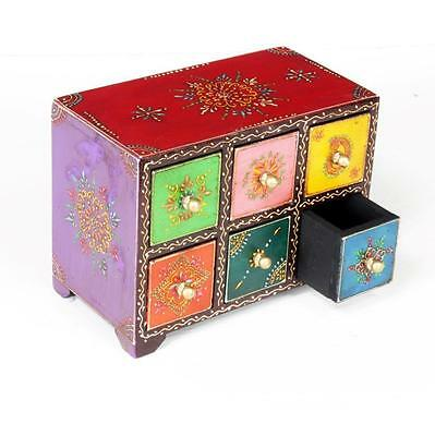 Indian Handicraft Wooden Drawer Gift Home Decore Hand Painted Deorative Item