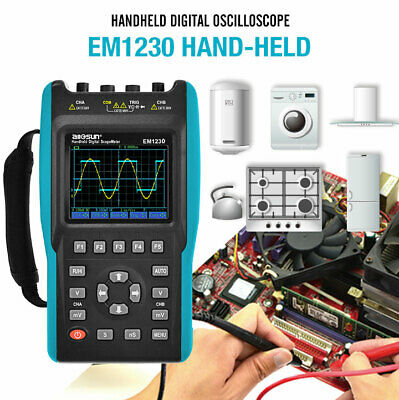 Handheld Digital Storage Oscilloscope TRMS 25MHz Color Screen 2 Channels DMM
