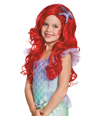 Girls Ultra Prestige Disney Princess Ariel The Little Mermaid Wig Accessory