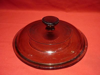 PYREX DOME LID 150mm FOR OVEN WARE DISH OVEN PROOF BROWN VINTAGE KITCHENWARE